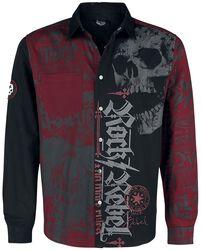 Schwarz/Rotes Hemd mit Print