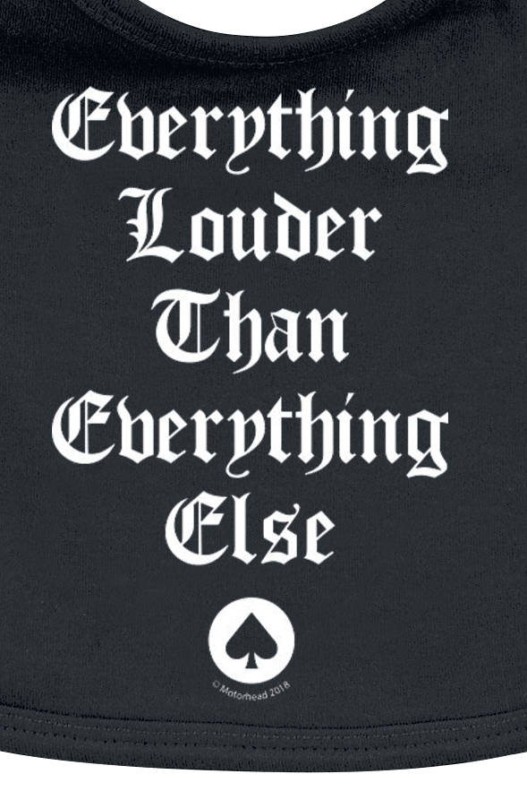 Image of Motörhead Everthing Louder Baby Lätzchen schwarz