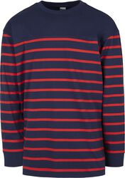 Color Block Stripe Boxy Longsleeve