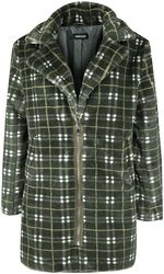 Teenage Dirtbag Plaid Faux Fur Coat