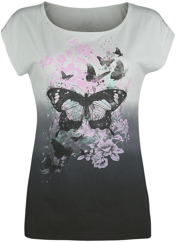 T-Shirt mit Schmetterlingsprint