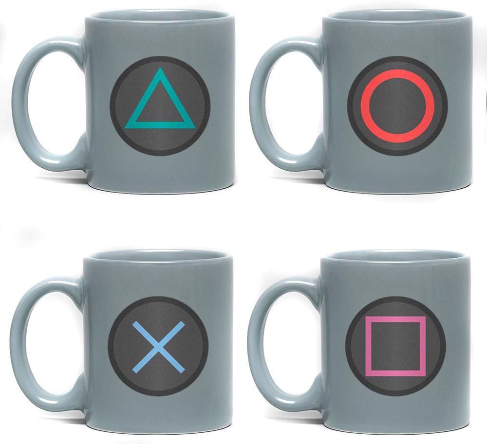 Playstation - Buttons - Espresso Tassen Set - Tassen-Set - multicolor