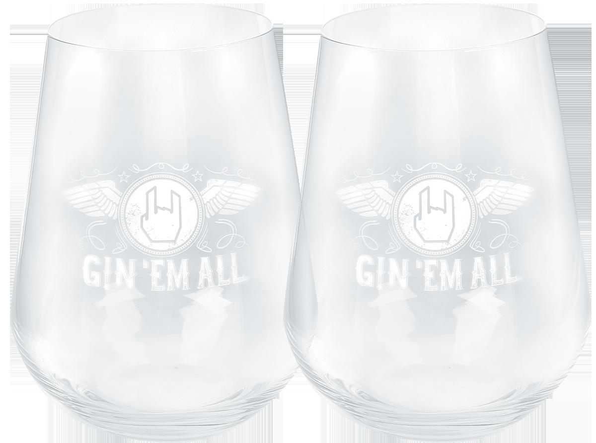Gin 'Em All by EMP - Gläser - Set - Glas-Set - multicolor - EMP Exklusiv!
