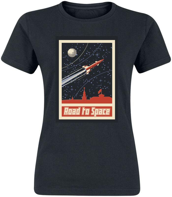 Ladies Road To Space Box Tee