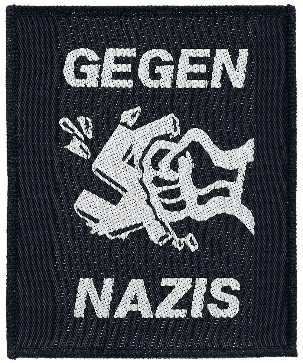 Gegen Nazis Patch schwarz weiß SP0962
