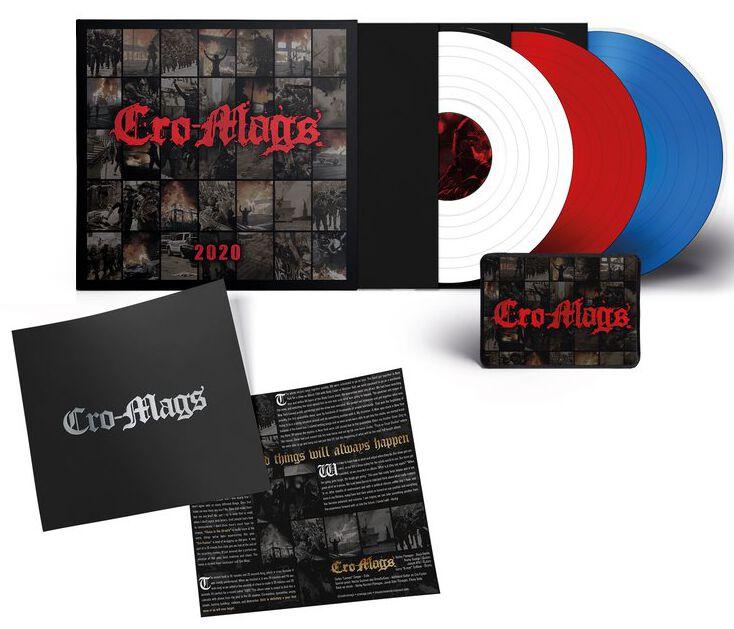 Image of Cro-Mags 2020 3 x 7 inch weiß/rot/blau