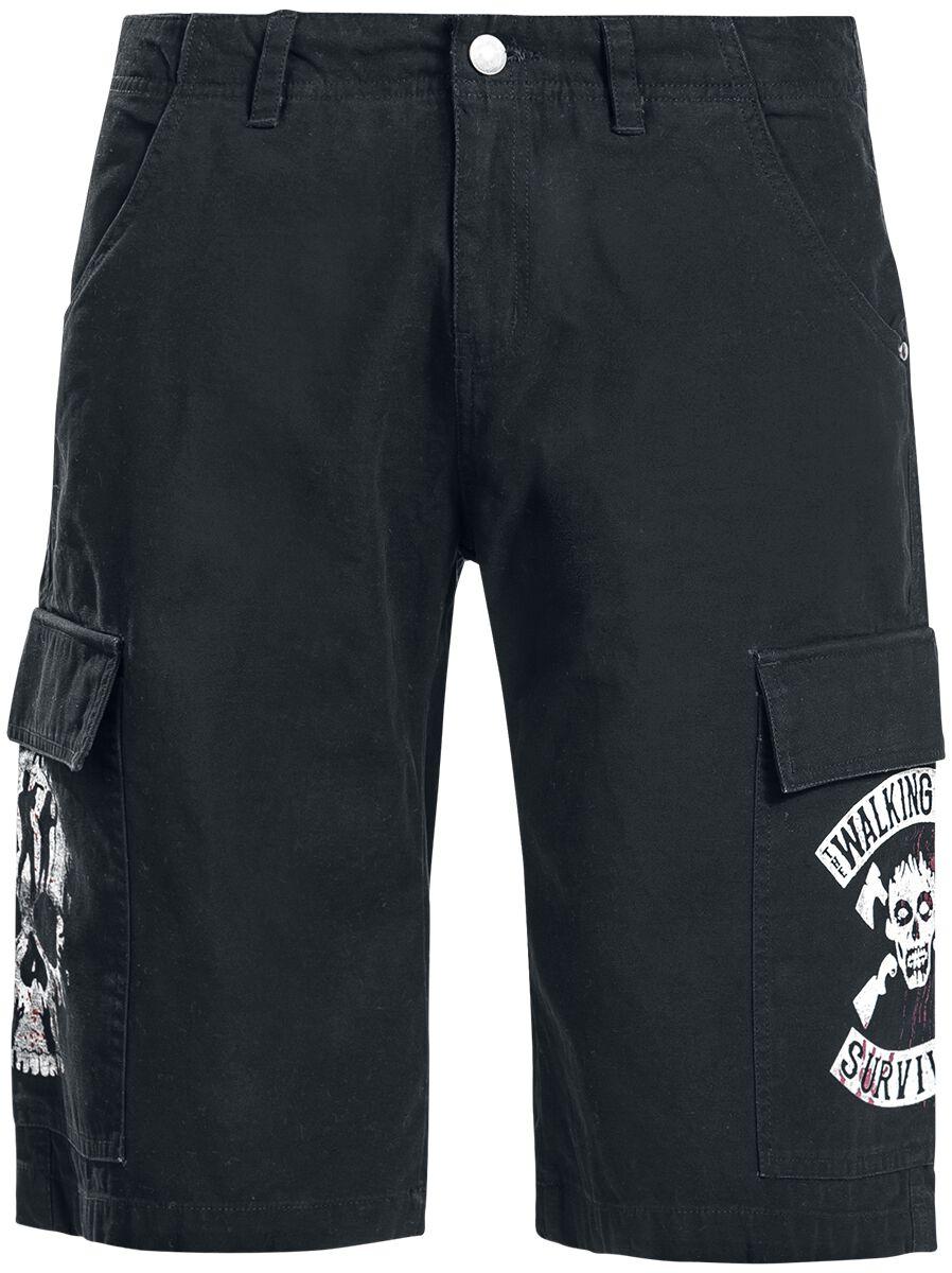 Image of The Walking Dead Survivor Cargo-Shorts schwarz