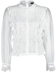 Net Sleeve Lace Crochet Top