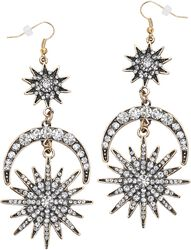 Sun Moon Stars Earrings