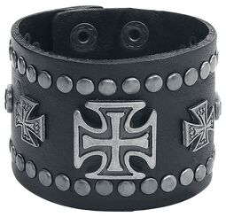Clinch Cross Leather Bracelet