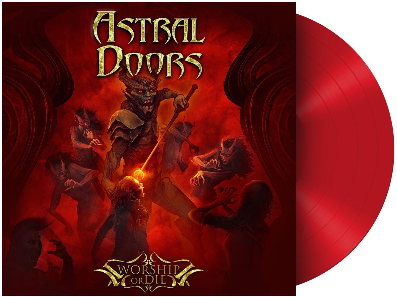 Image of Astral Doors Worship or die LP rot