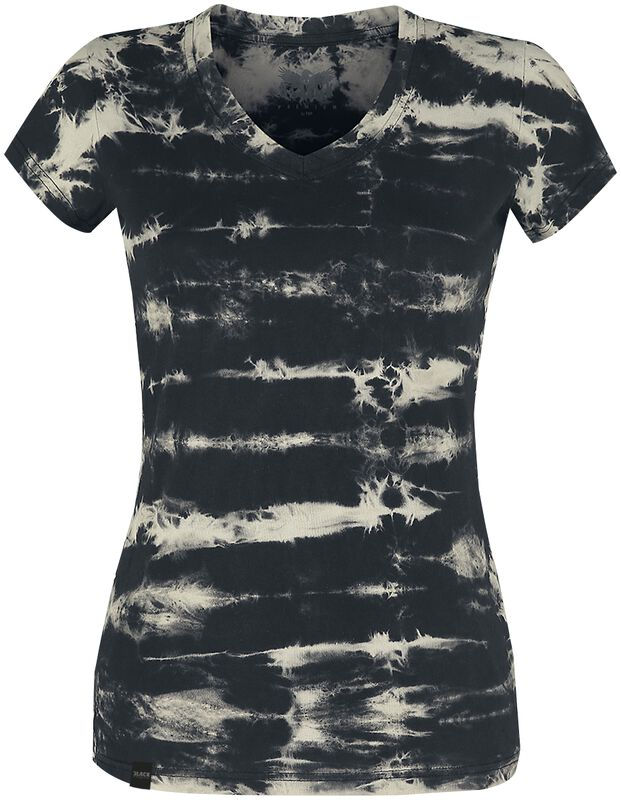 T-Shirt im Batik Look Black Premium