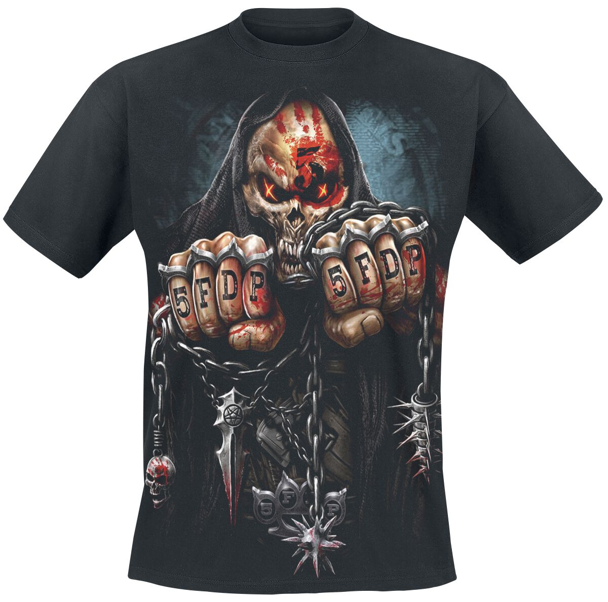 Five Finger Death Punch Game Over T-Shirt black