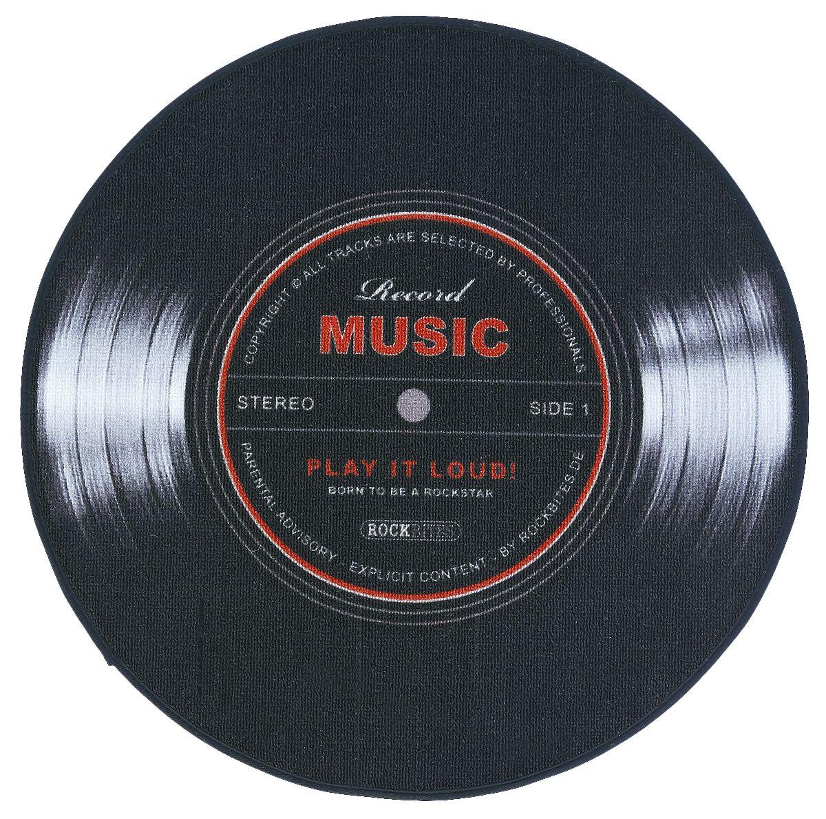 Record Music Teppich schwarz 100874