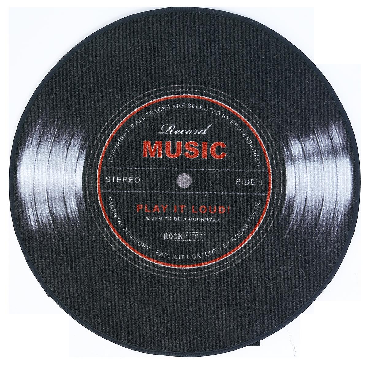 Record Music -  - Teppich - schwarz