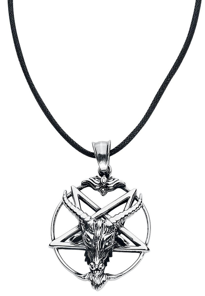 etNox hard and heavy Goat Pentagram Halskette silberfarben SK4053