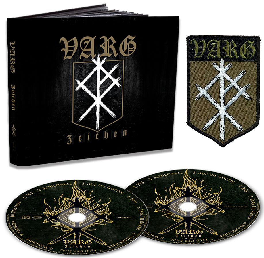 Image of Varg Zeichen 2-CD & Patch Standard