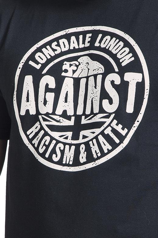 Image of Lonsdale London Against Racism T-Shirt schwarz