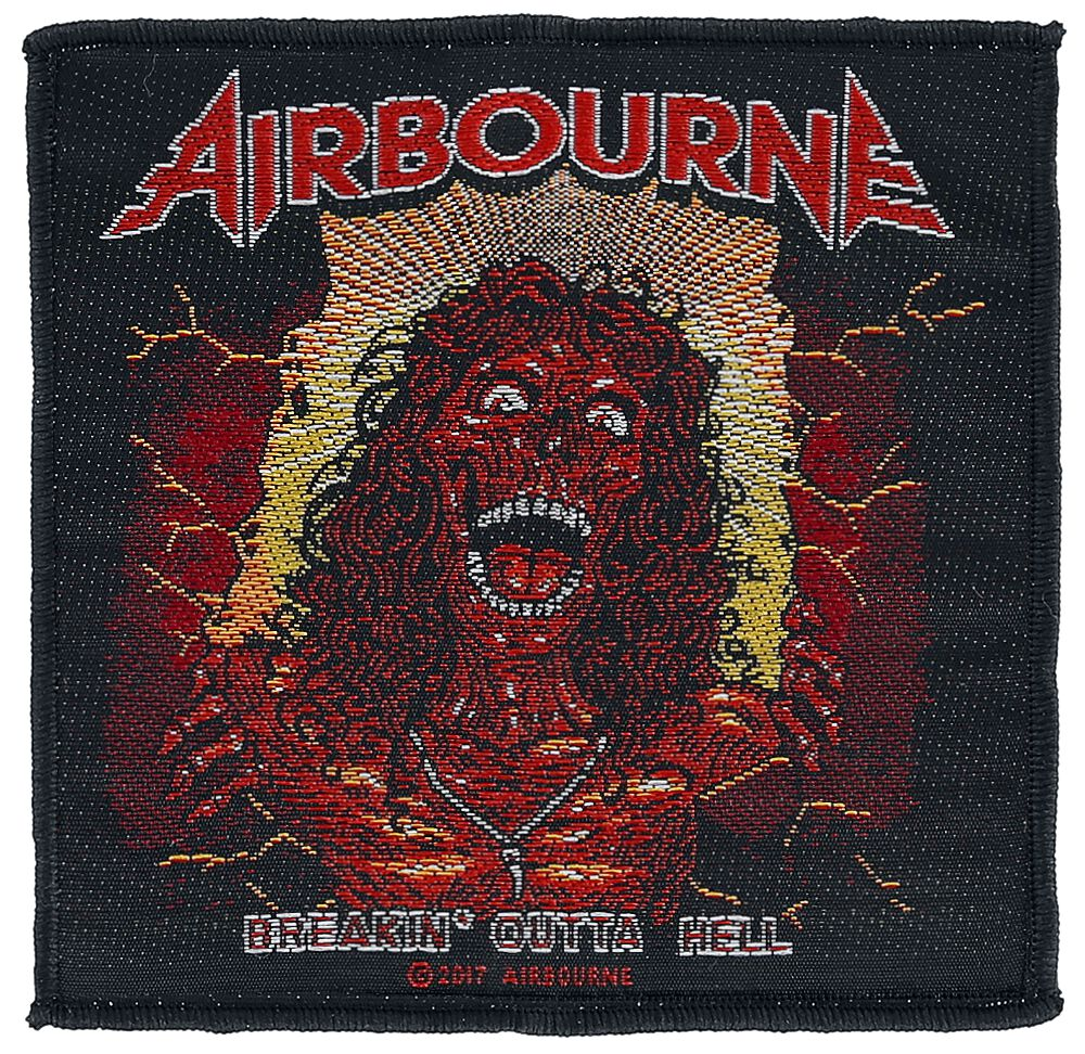 Airbourne  Breakin' outta hell  Patch  multicolor