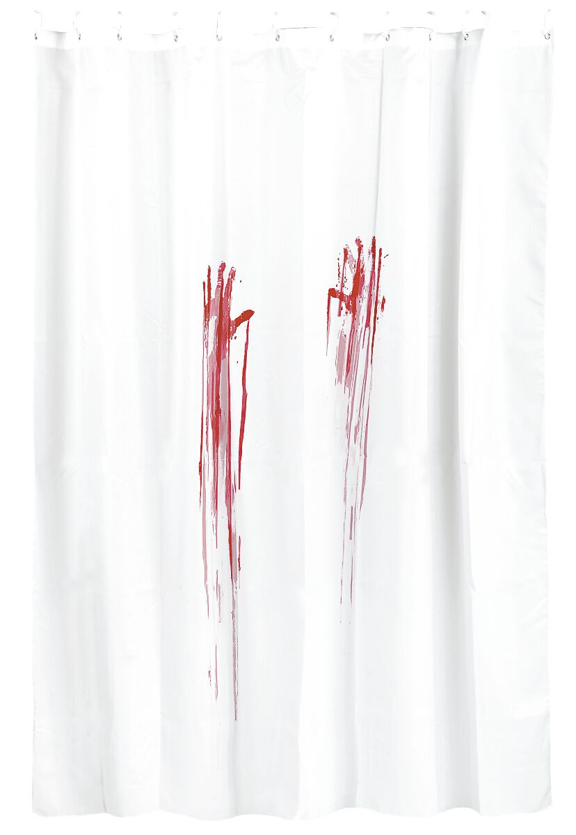 Blutbad Duschvorhang weiß 10630