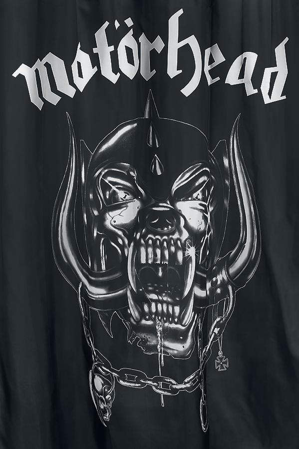 Image of Motörhead Warpig Duschvorhang schwarz/weiß