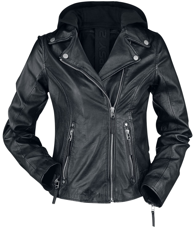 Jacken für Frauen - Gipsy Raja SF LEGV Lederjacke schwarz  - Onlineshop EMP
