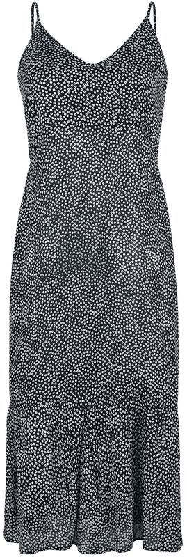 Navy Tiered Midi Dress