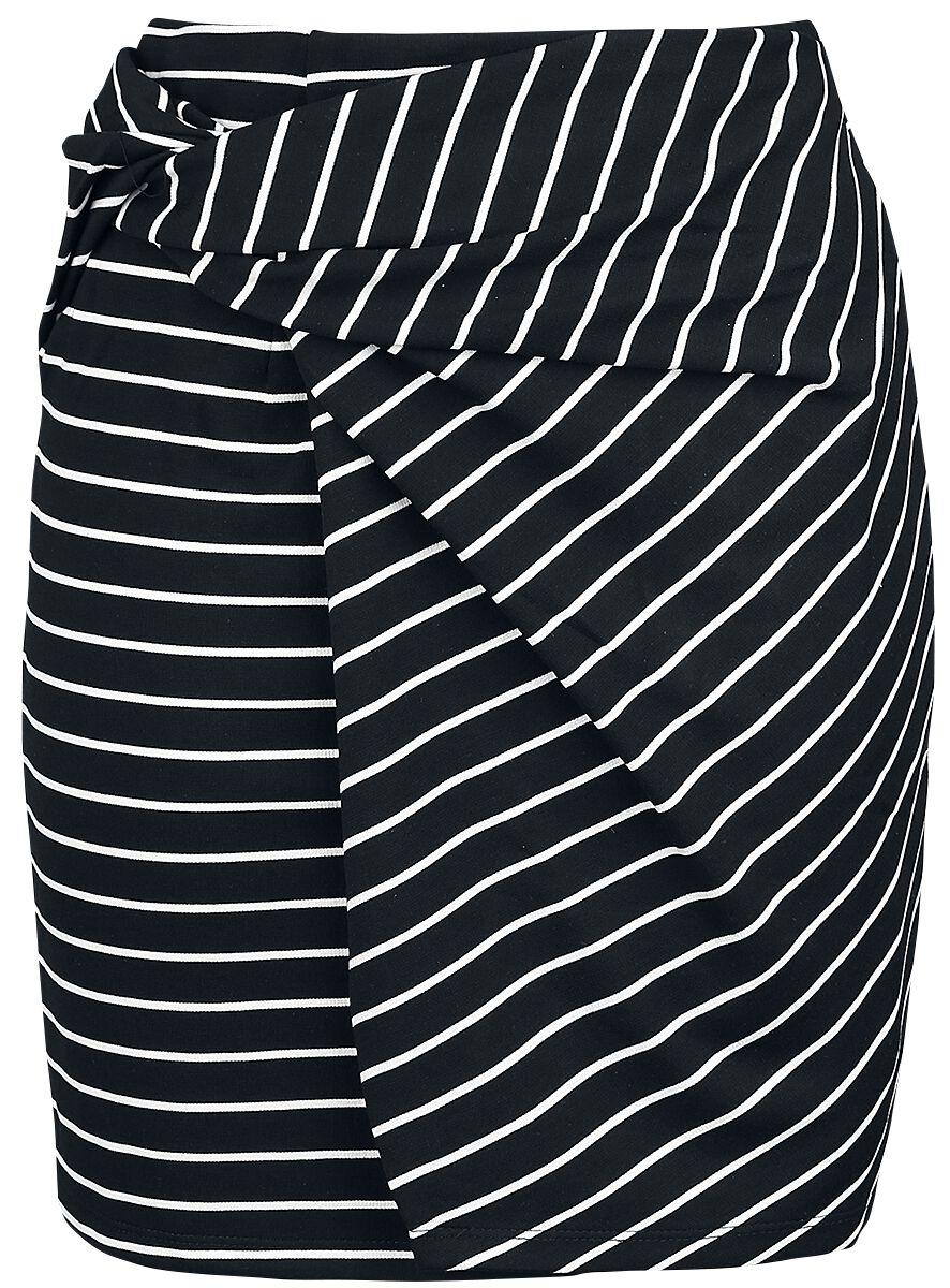 Roecke für Frauen - Hailys Amie Kurzer Rock schwarz weiß  - Onlineshop EMP