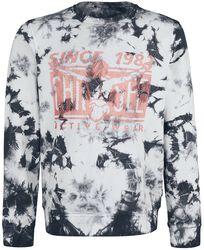 RED X CHIEMSEE - schwarz/weißes Batik Sweat-Shirt