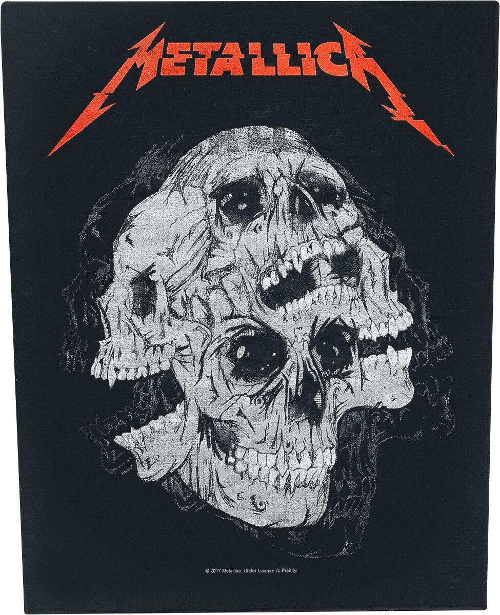 Metallica Skulls  Backpatch  multicolor