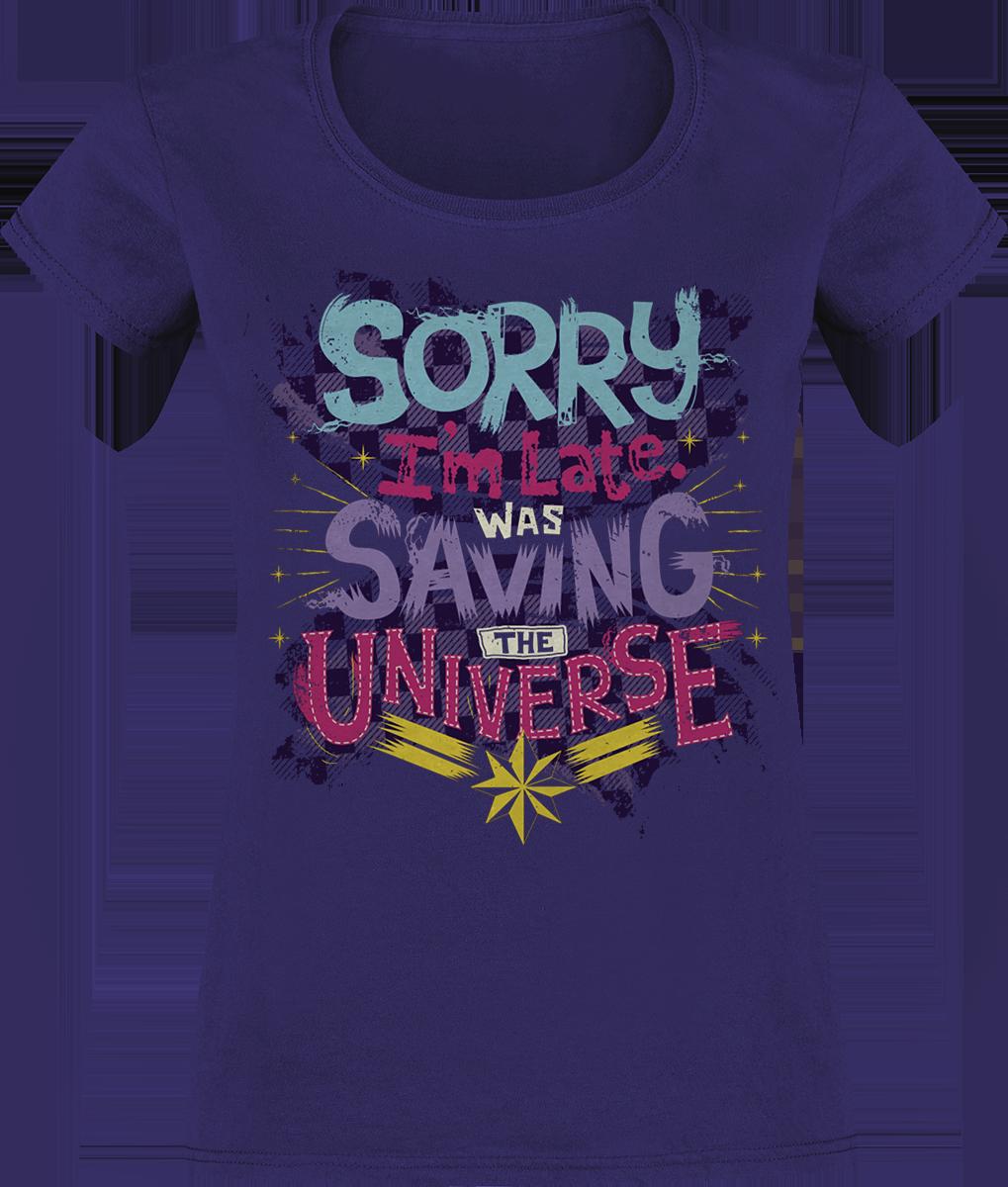 Captain Marvel - Sorry I'm Late - Girls shirt - violet image
