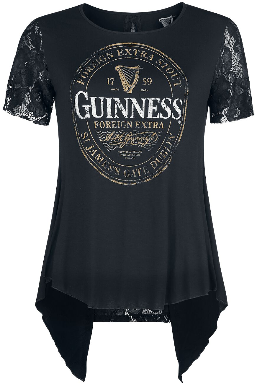 Guinness - Crest - T-Shirt - schwarz - EMP Exklusiv!