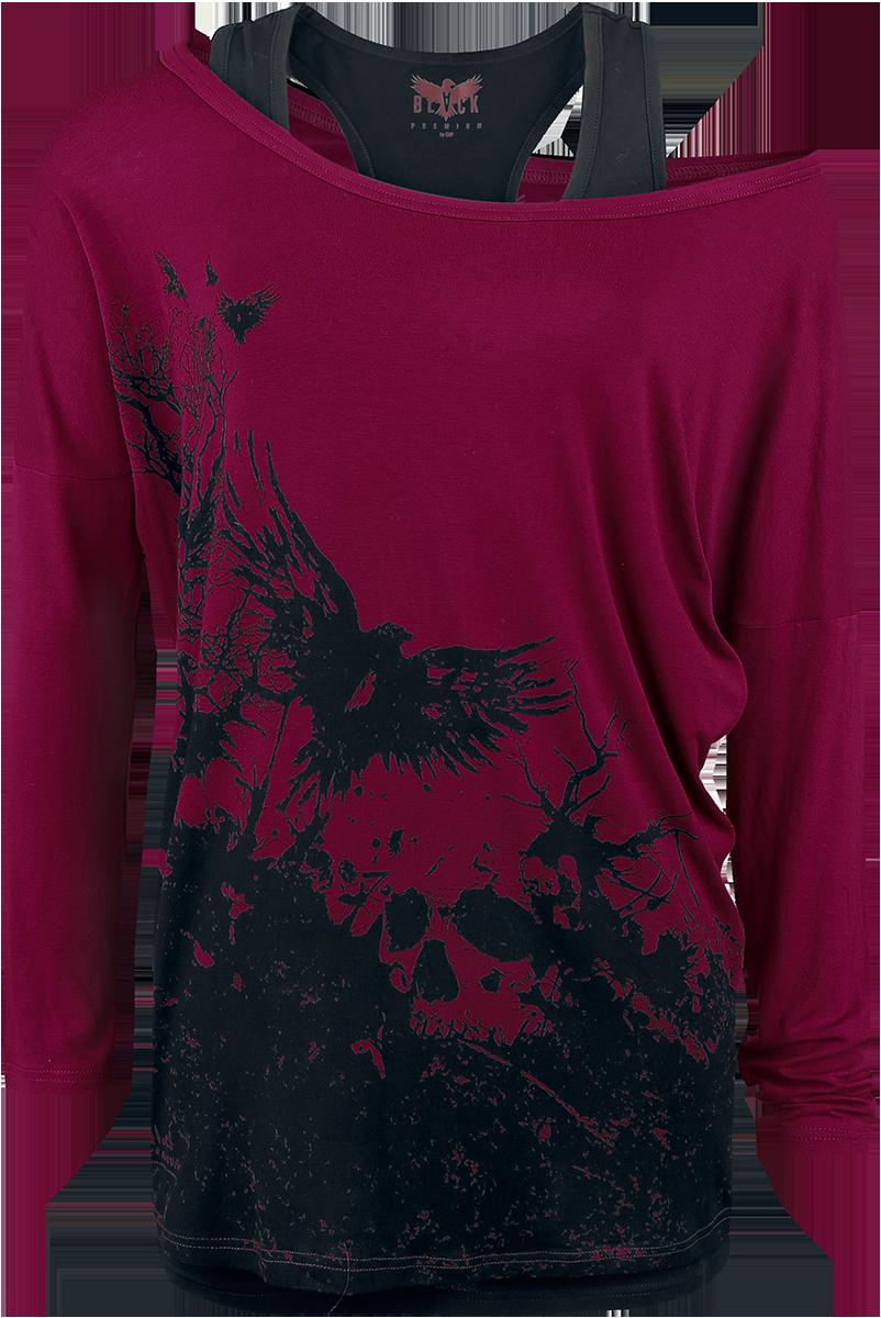 Black Premium by EMP - Busting Loose - Girls longsleeve - burgundy image