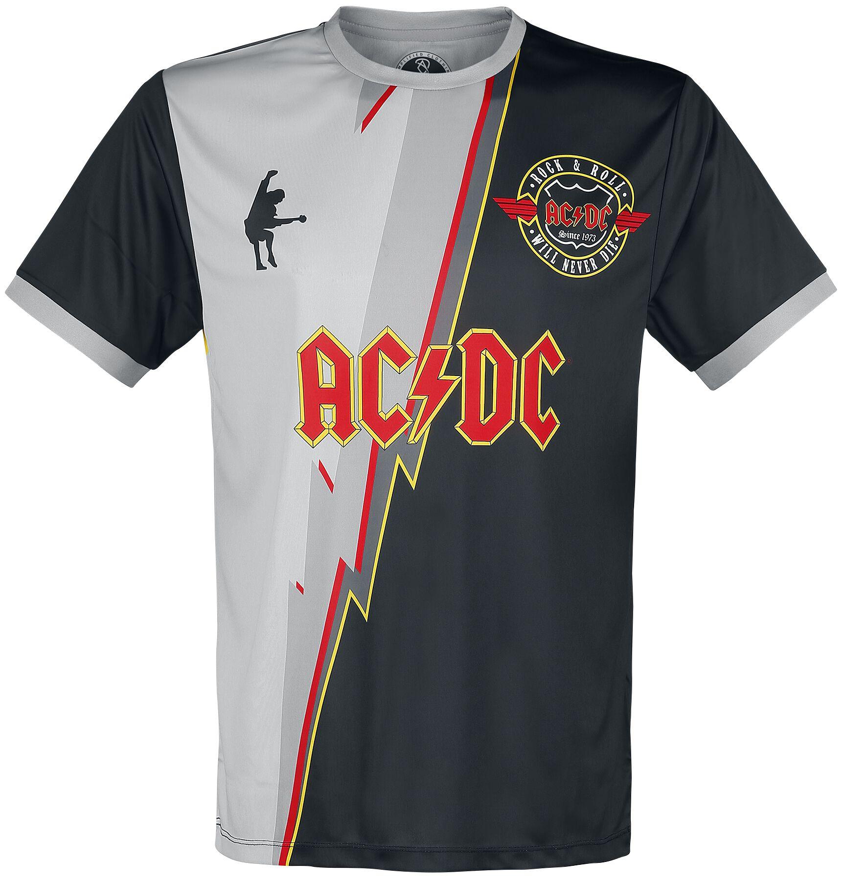Image of AC/DC Amplified Rock FC - Thunderstruck - Trikot T-Shirt multicolor