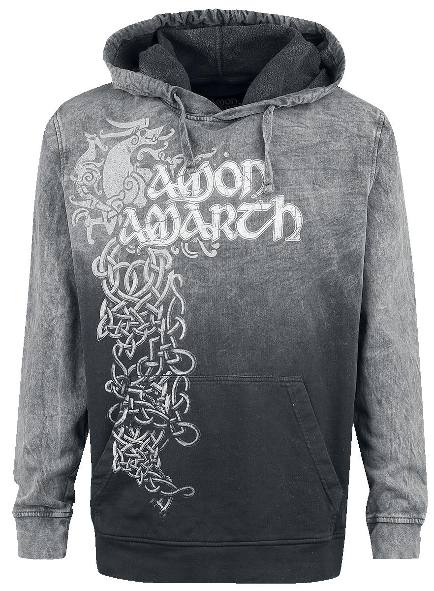 Amon Amarth - Viking Horses - Hooded sweatshirt - grey-black image