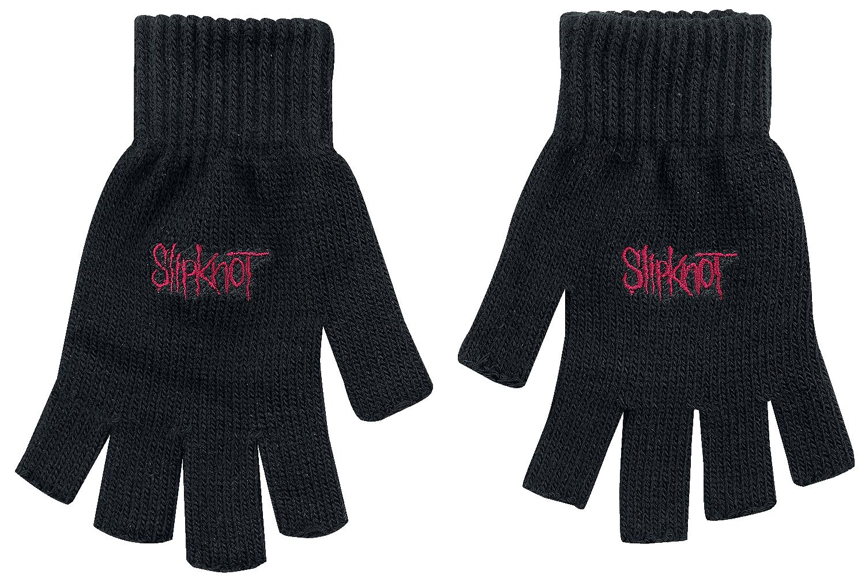 Image of Slipknot Logo Fingerlose-Handschuhe schwarz