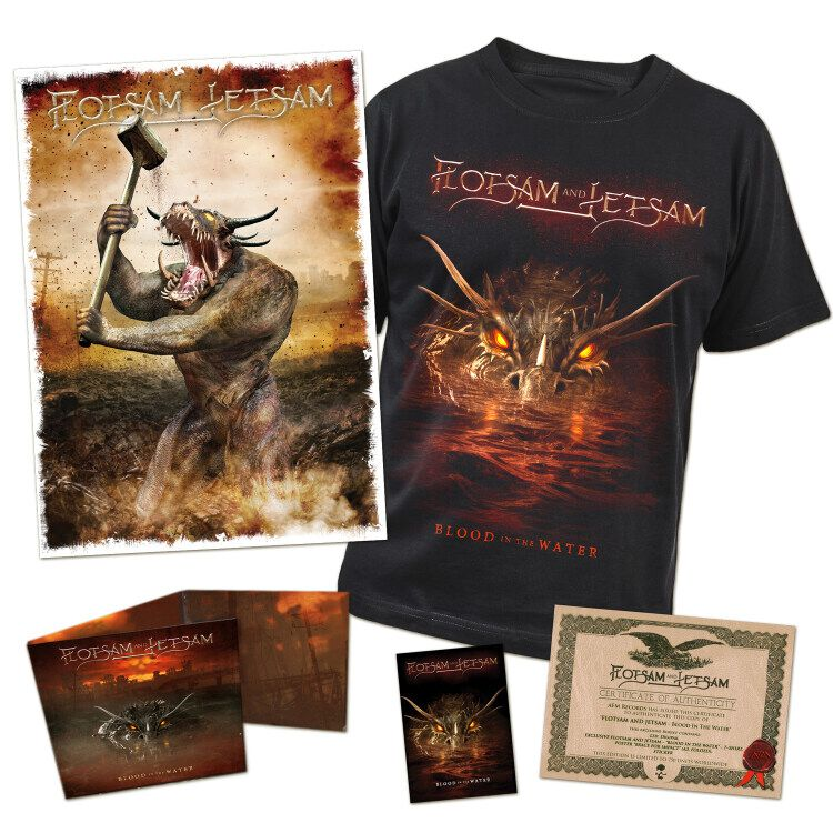 Image of Flotsam & Jetsam Blood in the water CD & T-Shirt Standard