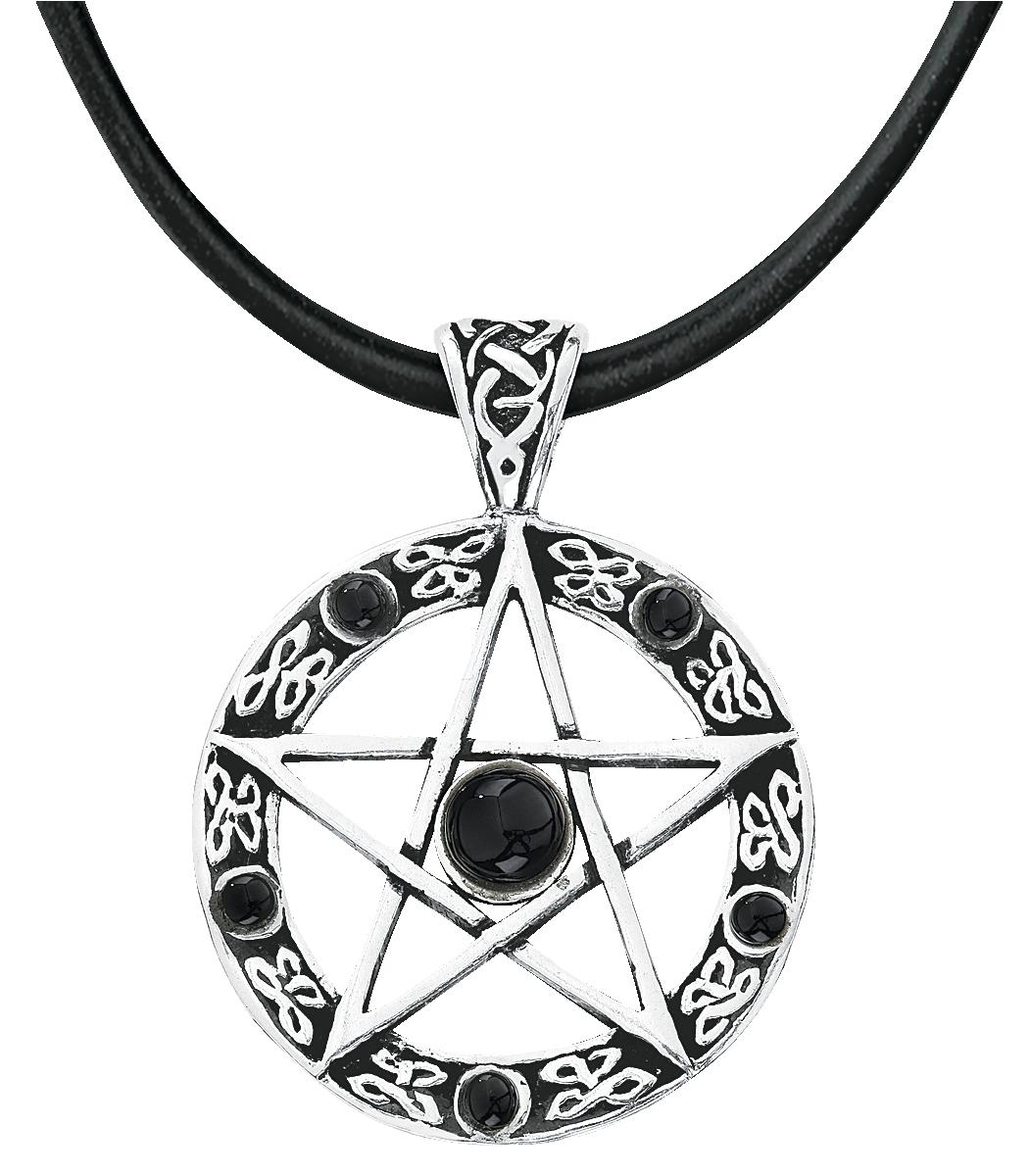etNox magic and mystic - Black Pentagram - Anhänger - silberfarben