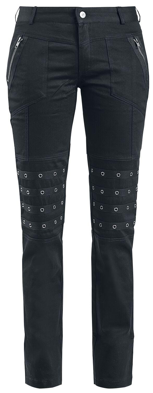 Hosen für Frauen - Queen Of Darkness Lange Hose mit Nieten besetzt Stoffhose schwarz  - Onlineshop EMP