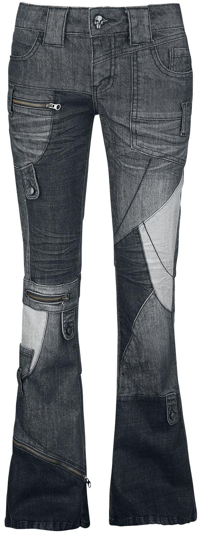 Hosen für Frauen - Rock Rebel by EMP Nicki Jeans schwarz  - Onlineshop EMP