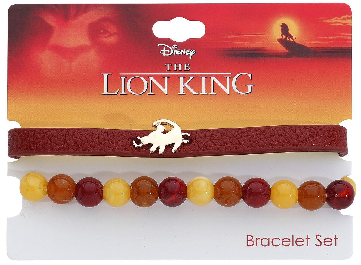 Armbaender für Frauen - Der König der Löwen Simba Armband Set rot  - Onlineshop EMP