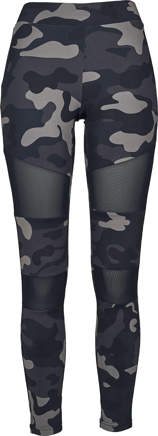 Urban Classics Ladies Camo Tech Mesh Leggings Leggings dark camo black