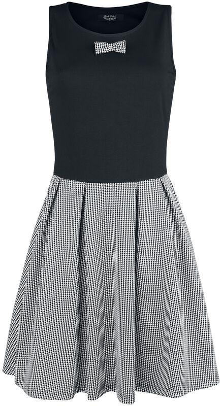 Kleid mit Hahnentritt-Muster Rock Rebel