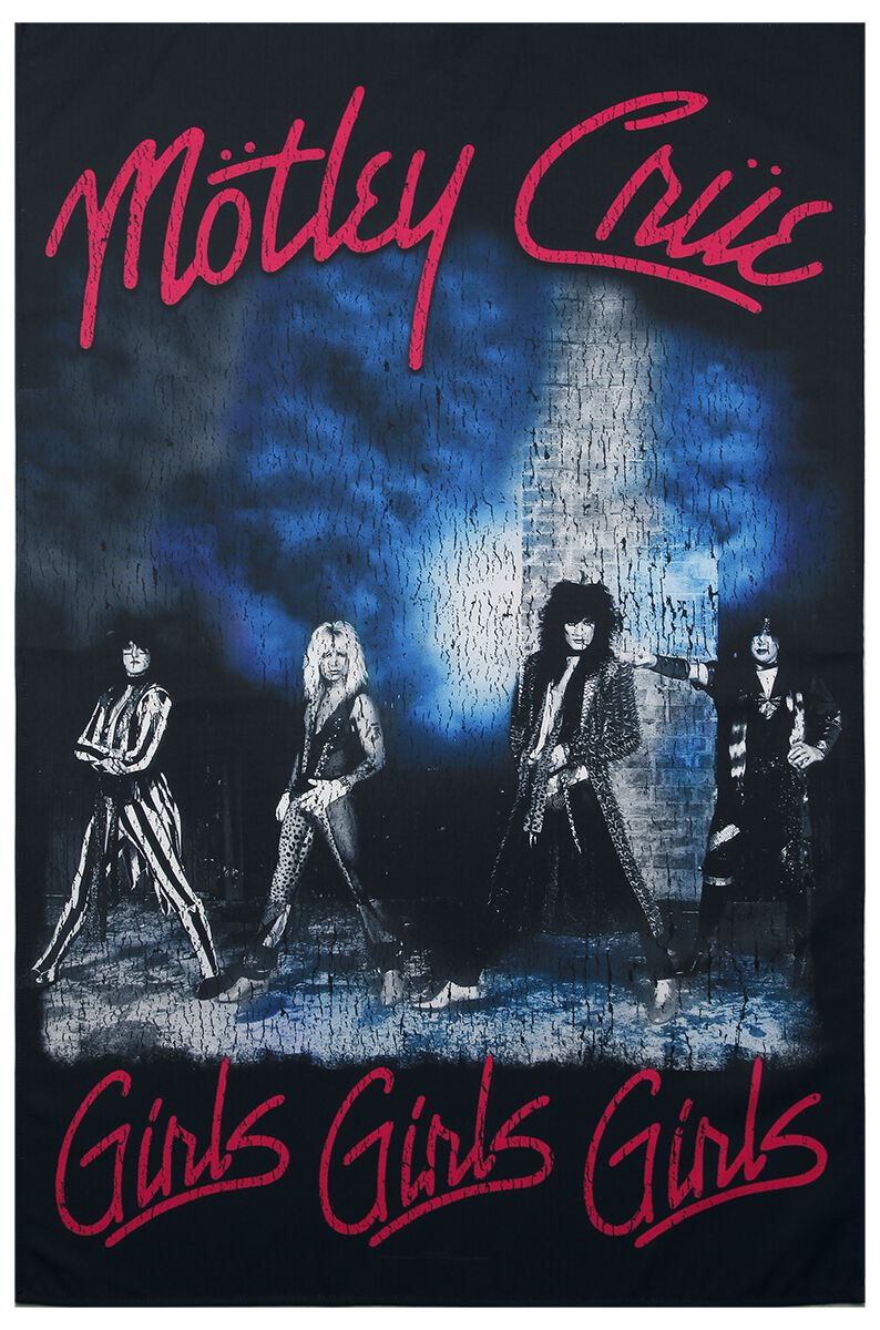 Mötley Crüe Girls, girls, girls Flagge multicolor TP180