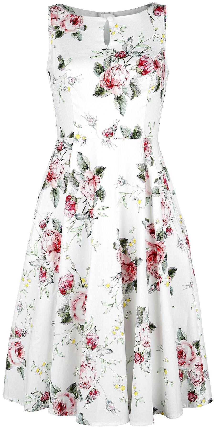 H&R London Rahel Swing Dress  Kurzes Kleid  weiß/rosa