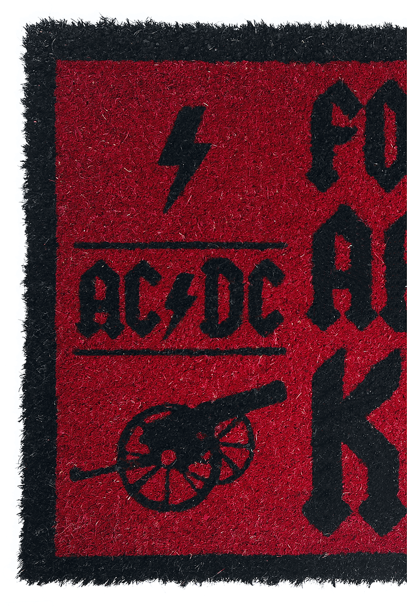 Image of AC/DC For those about to knock Fußmatte rot/schwarz
