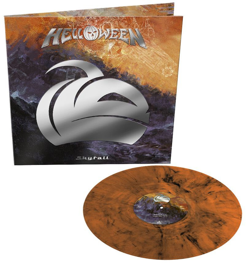 Image of Helloween Skyfall / Indestructable 12 inch-Single marmoriert