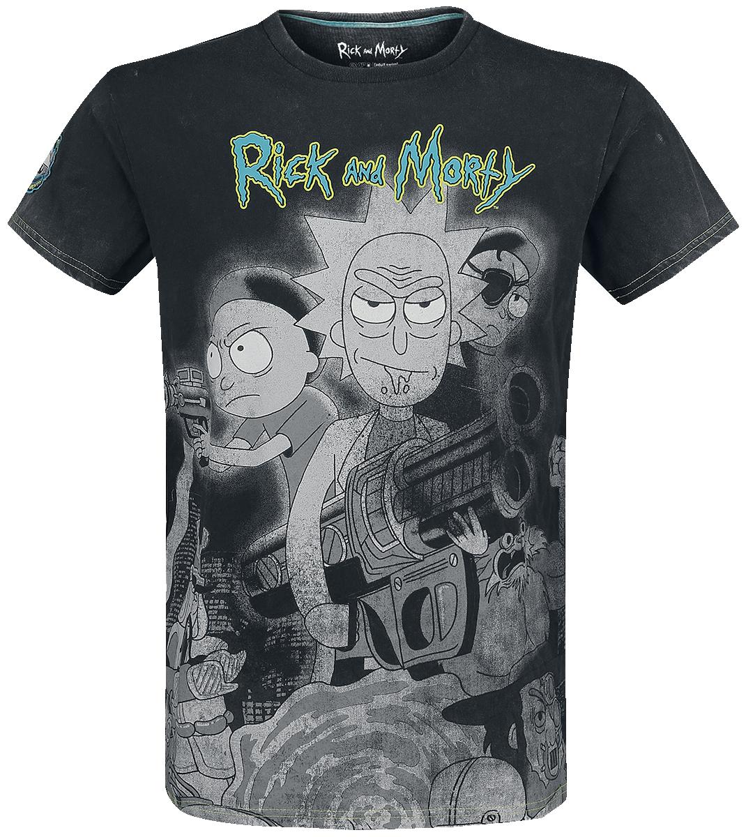 Rick And Morty - Rick and Morty Movie - T-Shirt - dark grey image