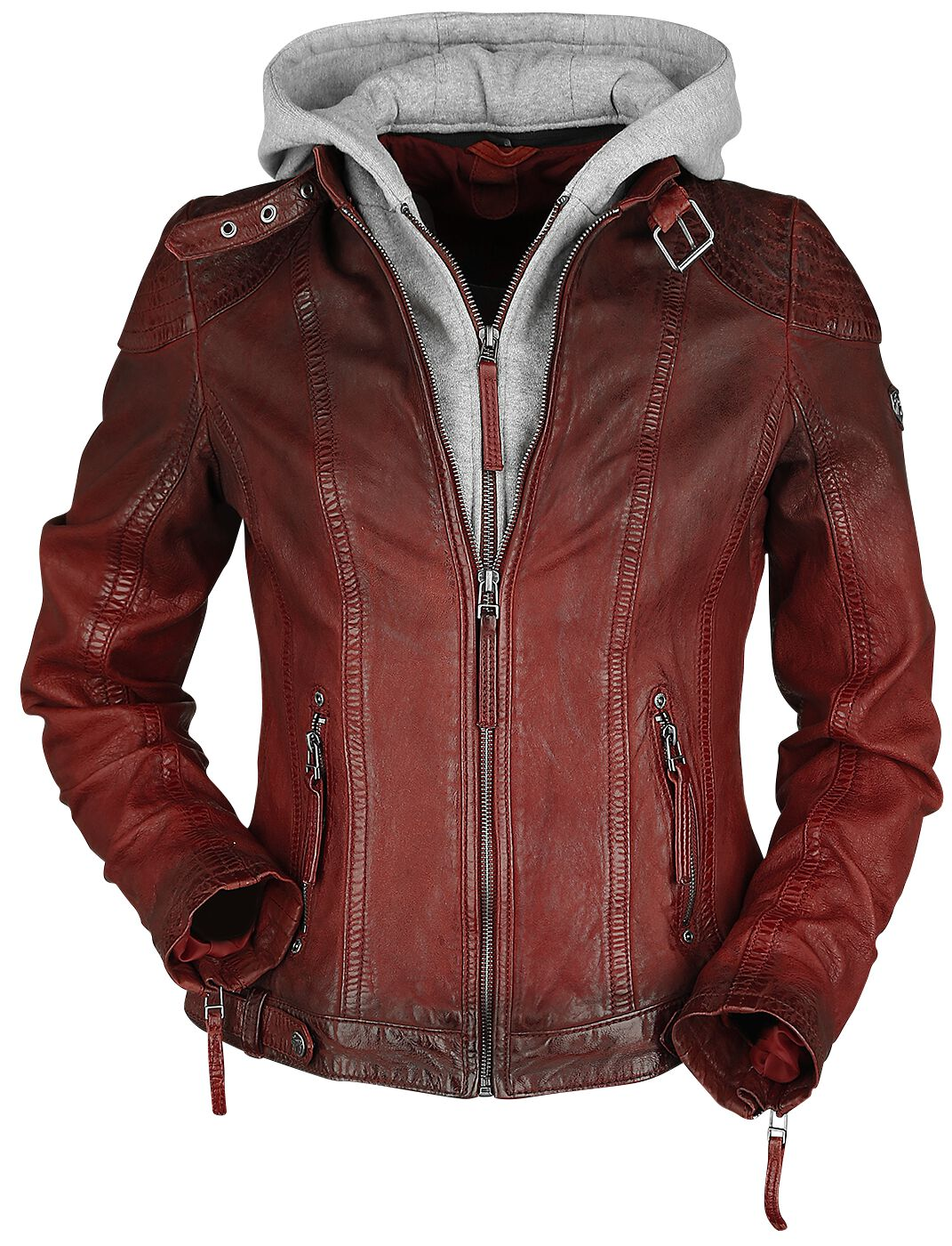 Jacken für Frauen - Gipsy Cascha LAMOV Lederjacke rot  - Onlineshop EMP