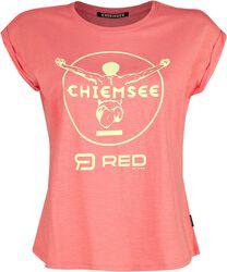 RED X CHIEMSEE - rosa T-Shirt mit Print